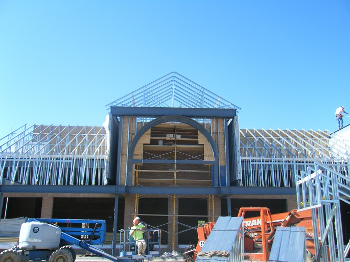 Premier New Franchise Contractor Ann Arbor MI - Metro General Contractors - Grand_River_Plaza_construction_in_progress